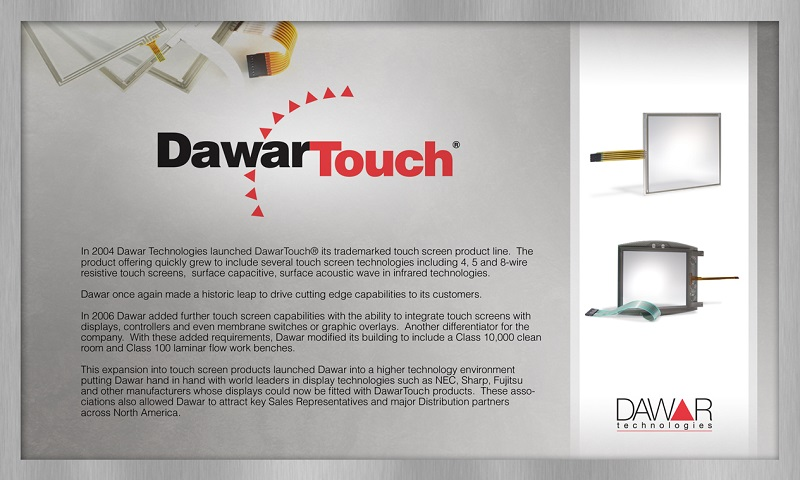 Introduction of DawarTouch<sup>®</sup> products