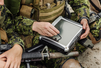 Touch screen used by military